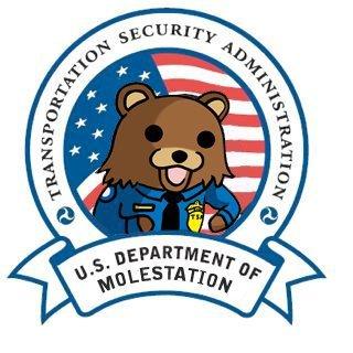 Pedobear works for the TSA!